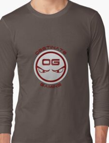 Obstinate Gaming (Maroon Text) Long Sleeve T-Shirt