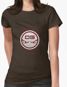 Obstinate Gaming (Maroon Text) Womens Fitted T-Shirt