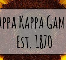 Kappa Kappa Gamma Sunflower Sticker