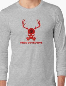 True Detective - Gas Mask - Red Long Sleeve T-Shirt