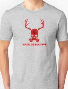 True Detective - Gas Mask - Red Unisex T-Shirt