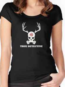 True Detective - Gas Mask - White Women's Fitted Scoop T-Shirt