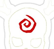 True Detective - Gas Mask - White Sticker