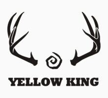 True Detective - Yellow King Antlers - Black by Prophecyrob