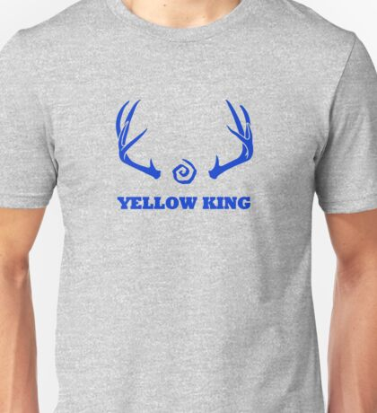 True Detective - Yellow King Antlers - Blue Unisex T-Shirt