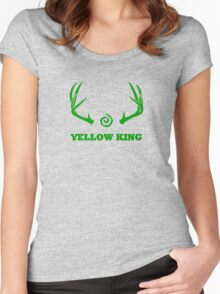 True Detective - Yellow King Antlers - Green Women's Fitted Scoop T-Shirt