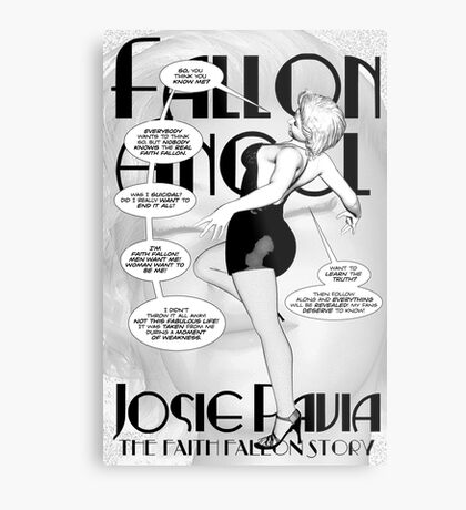Faith Fallon Graphic Novel Page © Steven Pennella Metal Print