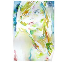 ELENA - watercolor portrait Poster