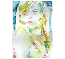 ELENA - watercolor portrait Poster