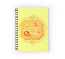 Fully Accomplish Your Ministry (Yellow) Spiral Notebook