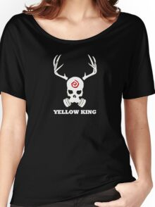 True Detective - Yellow King Gas Mask - White Women's Relaxed Fit T-Shirt