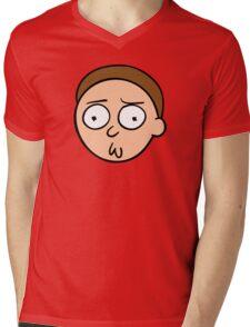 Morty face Mens V-Neck T-Shirt