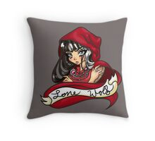 Cerise Hood - Lone Wolf Throw Pillow