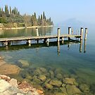 The pier on the lake by annalisa bianchetti