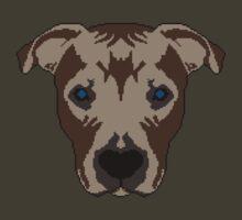 Pixel Art Pitbull - PixelPibble by erikaandmonty