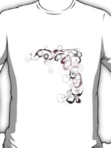 Pink Swirls And Twirls T-Shirt