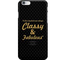 """""""A Girl should be two things: Classy & Fabulous"""" COCO CHANEL iPhone Case/Skin"""