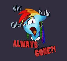 Rainbow Dash Why is the Cider Always Gone?! Womens Fitted T-Shirt