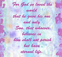 John 3:16. Water Color.  by Diane67