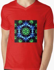 Blue Ring Rose Mens V-Neck T-Shirt