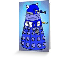 Dalek Tardis Greeting Card