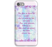 John 3:16. Water Color.  iPhone Case/Skin