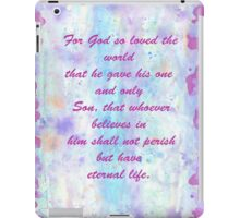 John 3:16. Water Color.  iPad Case/Skin