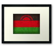 Malawi Flag Framed Print