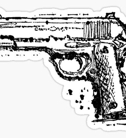 Graphic Pistol Sticker