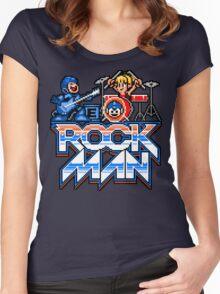 Rock, Man! Women's Fitted Scoop T-Shirt