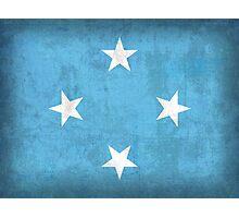 Micronesia Flag Photographic Print