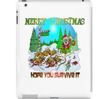 Santas killings iPad Case/Skin