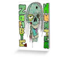 Zombie Hunter Logo Greeting Card