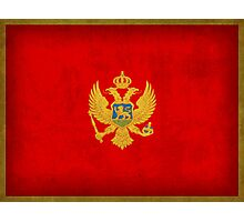 Montenegro Flag Photographic Print