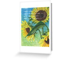 Vince's Sunflowers 2 Greeting Card