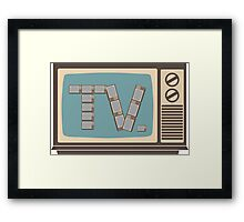We're Watching TV on the TV on the TV Framed Print