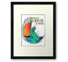 Zombies of America Framed Print