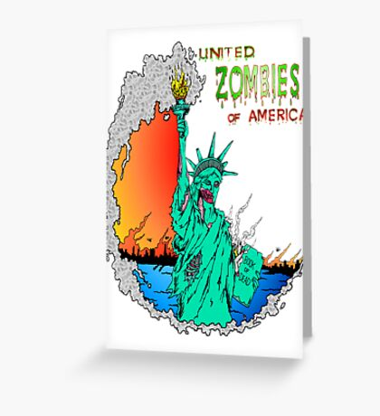 Zombies of America Greeting Card