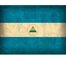 Nicaragua Flag Photographic Print