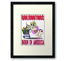 Walmartians Born In USA Framed Print