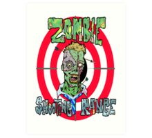 Zombie Shooting Range Art Print