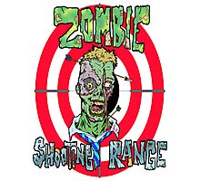 Zombie Shooting Range Photographic Print