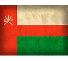 Oman Flag Photographic Print