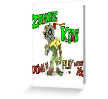 Zombie Kids Greeting Card