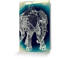 War Elephant - Inverted Greeting Card