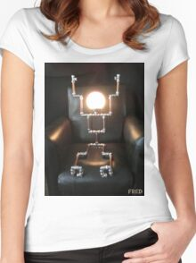 Lamp Boy - FredPereiraStudios_Page_12 Women's Fitted Scoop T-Shirt