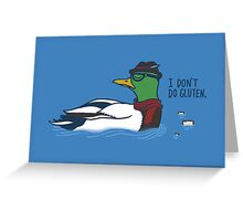 Trendy Duck Greeting Card