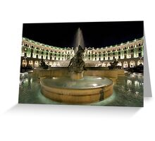 Piazza Della Repubblica by Night Greeting Card