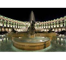 Piazza Della Repubblica by Night Photographic Print