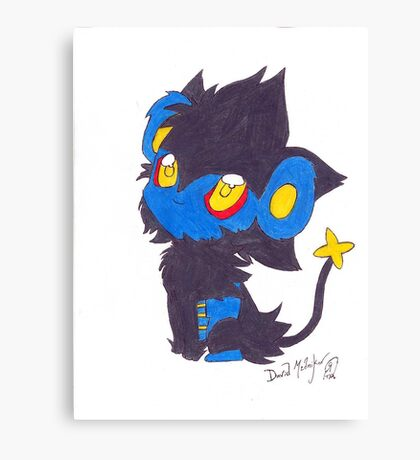 Luxray Pokemon Poster Print Canvas Print